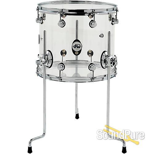 Dw design series 12x14 acrylic floor tom drum for 14x12 floor tom