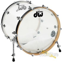 DW Design Series 18x22 Bass Drum Acrylic