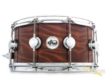 DW 6.5x14 Collectors Exotic Maple Snare Drum-Redwood Stump