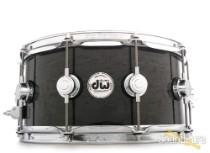 DW 6.5x14 Collectors Exotic Cherry Snare Drum-Grey Birdseye
