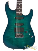 Anderson Drop Top Trans Teal Burst w/ Binding 02-16-16N