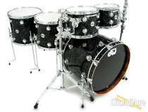 DW 5pc Collectors Maple/Mahogany Drum Set-Black Velvet