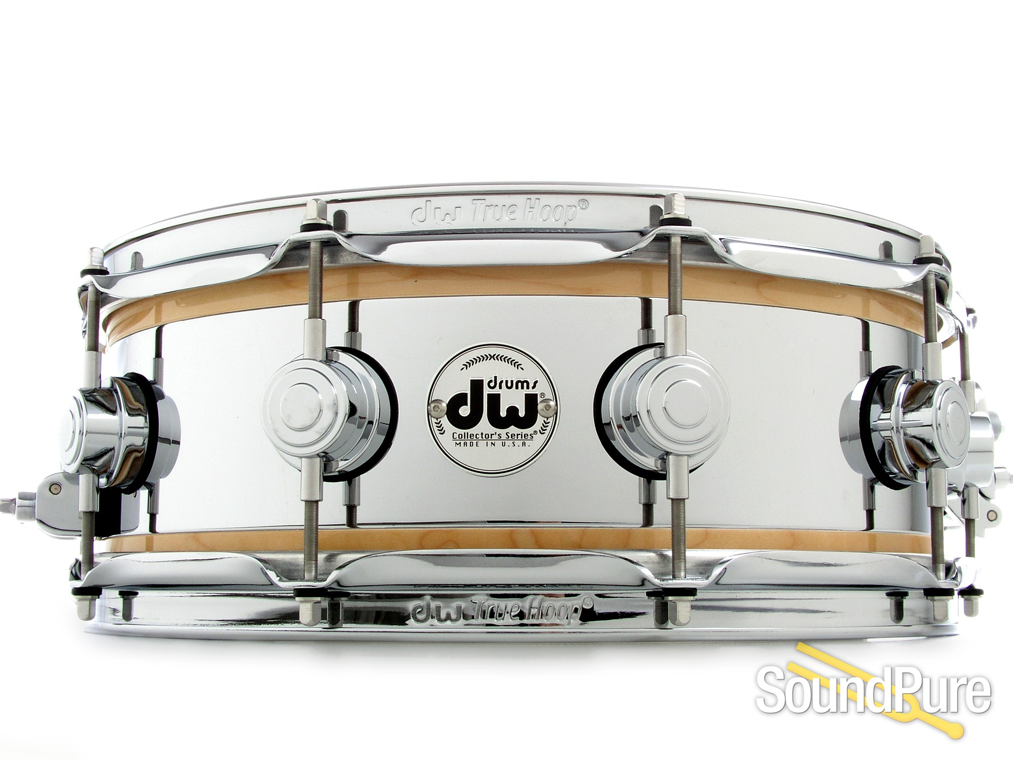 DW 5x14 Collector\'s Reverse Edge Snare Drum - Natural Gloss