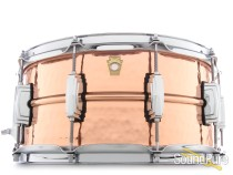 Ludwig 6.5X14 Hammered Copper Snare Drum- Imperial Lug