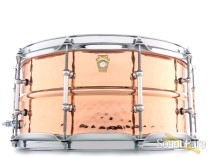 Ludwig 6.5X14 Hammered Copper Snare Drum-Tube Lugs