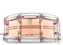 Ludwig 5X14 Hammered Copper Snare Drum-Tube Lugs
