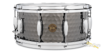 Gretsch 6.5x14 Hammered Black Steel Snare Drum