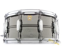 Ludwig 6.5X14 Hammered Black Beauty Snare Drum-Imperial