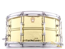 Ludwig 6.5x14 Hammered Brass Snare Drum-Tube Lugs Demo/Open Box