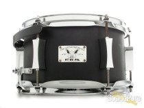 Pork Pie 6x10 Little Squealer Black Wrinkle Steel Snare Drum