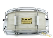 Pork Pie 6.5x13 Maple w/Rings Snare Drum White Oyster
