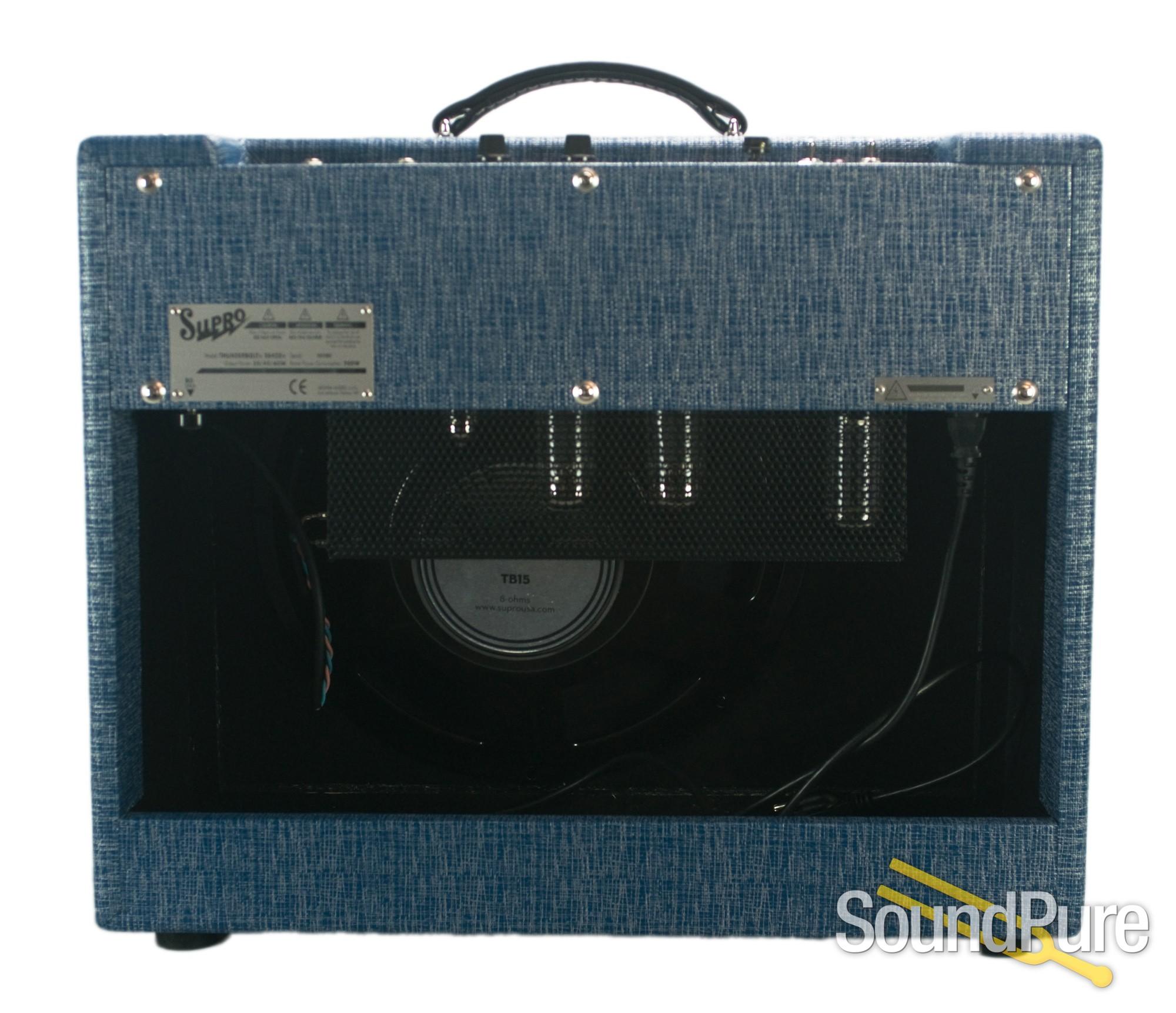 supro thunderbolt plus 1x15 combo amp used. Black Bedroom Furniture Sets. Home Design Ideas