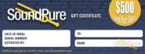 Sound Pure $500 Gift Certificate