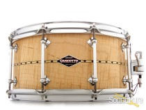 Craviotto 6.5x14 Curly Maple Custom Snare Drum-Inlay