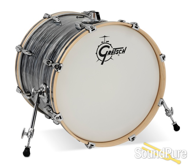 Gretsch 5pc Renown Drum Set Silver Oyster Pearl Rn2 E605