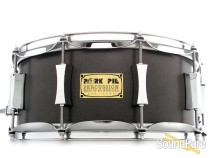 Pork Pie 6x14 Maple Rosewood Snare Drum- Flat Grey Metallic