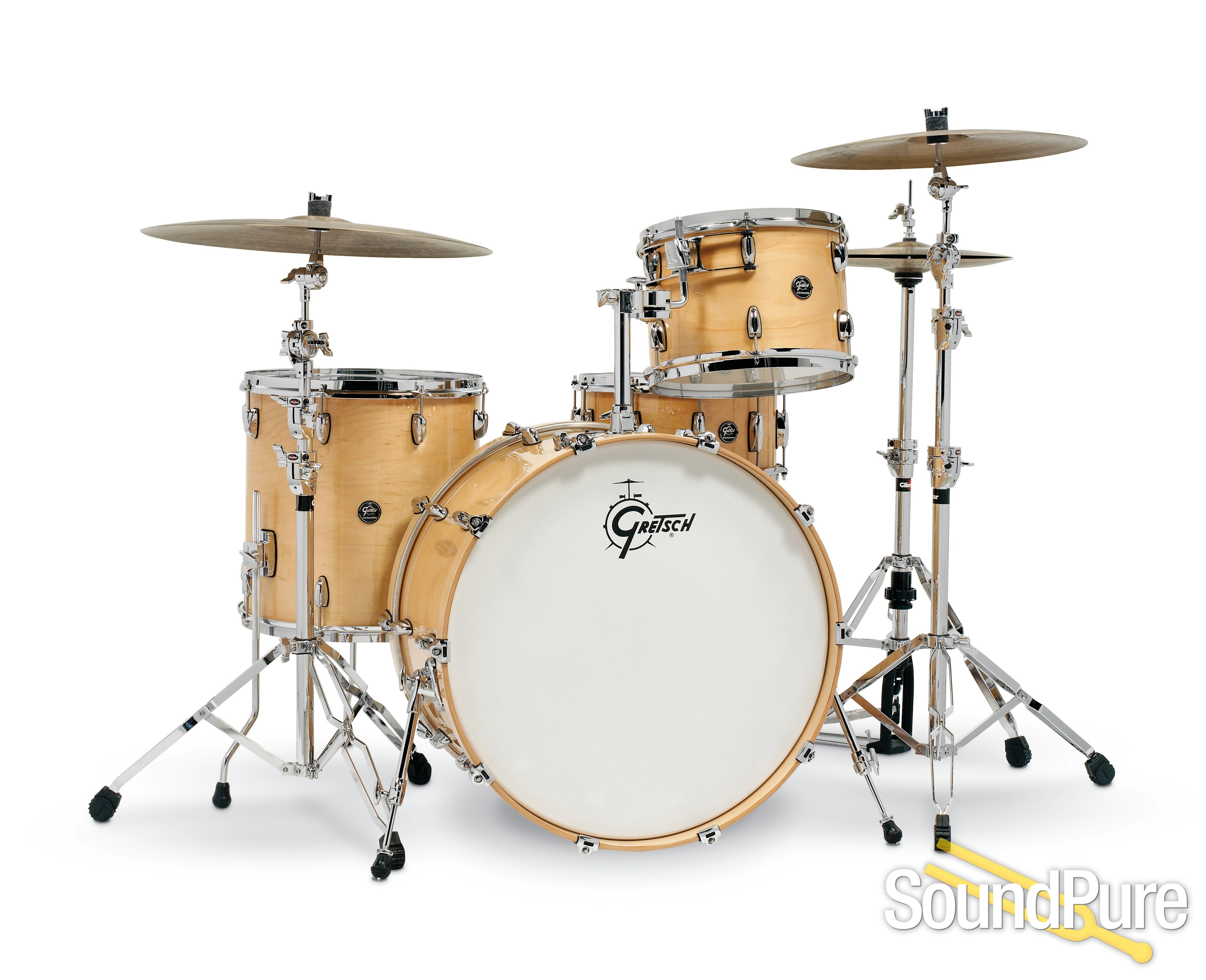 Gretsch 4pc Renown Drum Set Gloss Natural Rn2 R644 1