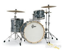 Gretsch 3pc Renown Drum Set Silver Oyster Pearl RN2-R643
