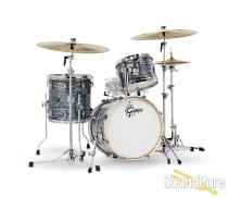 Gretsch 3pc Renown Drum Set Silver Oyster Pearl RN2-J483