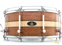 RBH 6.5x14 Prestige Mahogany w/ Maple Inlay Snare Drum