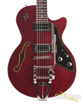 Duesenberg Starplayer TV Red Sparkle Semi-Hollow #162399