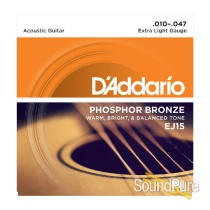 D'Addario EJ15 Phosphor Bronze Extra Light 10-47 Strings