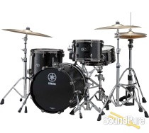 Yamaha 3pc Live Custom Be Bop Drum Set Shell Pack Black Wood