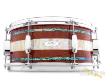 C&C Drums Custom 6x14 Maple/Gum Snare Drum-Bubinga Abalone