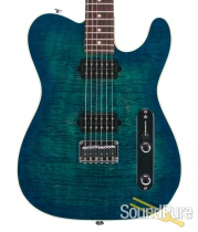 Suhr Classic T Aqua Blue Burst HH IRW Electric #22354 - Used