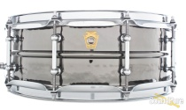 Ludwig 5x14 Hammered Black Beauty Snare Drum-Tube Lugs
