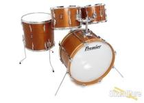 Premier 4pc 1970s Mahogany Drum Set Natural Satin
