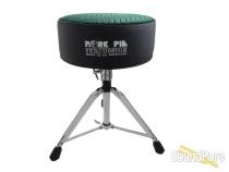 Pork Pie Percussion Round Drum Throne- Black / Green Swirl