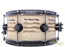 DW 6.5x14 ICON Terry Bozzio The Black Page Snare Drum