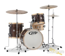 PDP 3pc Concept Maple Classic Wood Hoop Bop Drum Set-Walnut