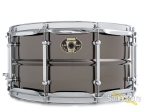 Ludwig 6.5x14 Black Magic Brass Snare Drum-Chrome