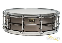 Ludwig 5.5x14 Black Magic Brass Snare Drum-Chrome