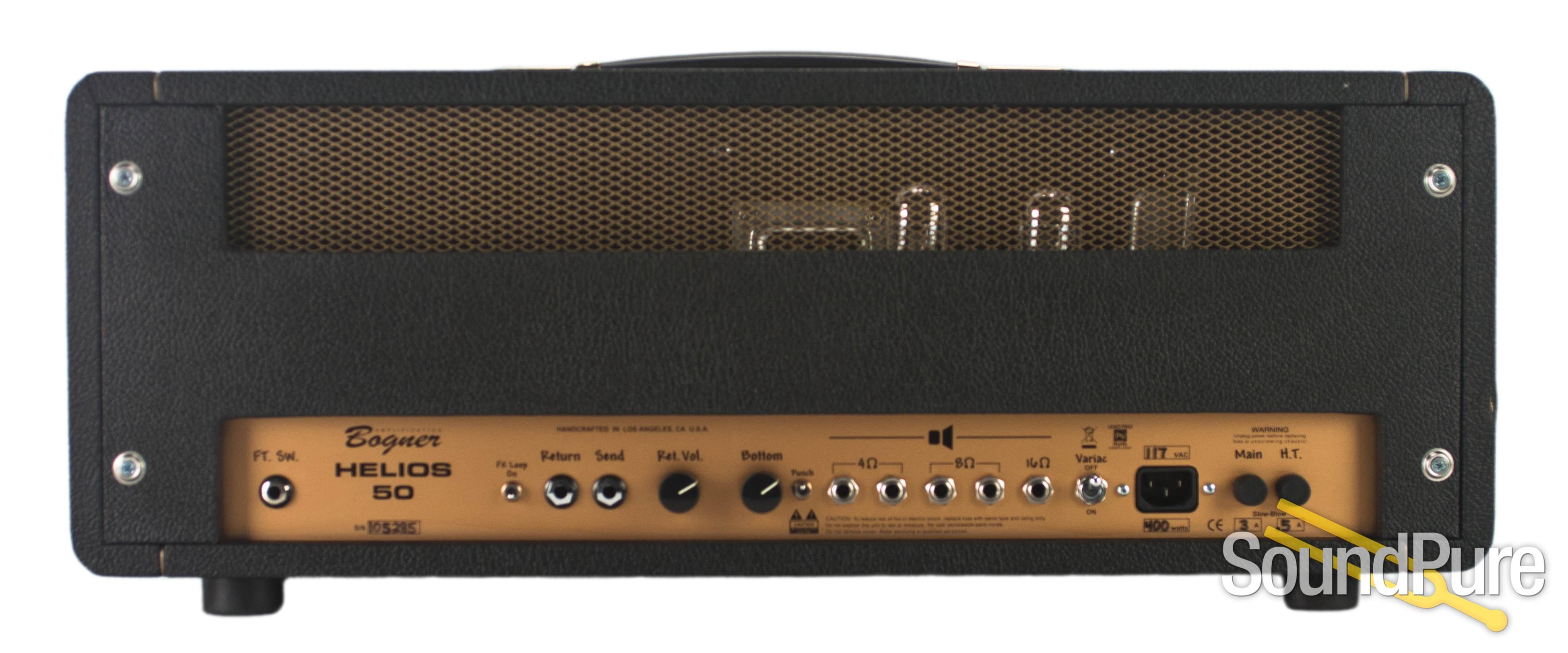 online store size 7 separation shoes Bogner Helios 50W Amplifier Head - Used | Soundpure.com