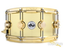 DW 6.5x14 Collectors Series Bell Brass Snare Drum-Brass