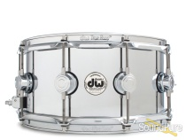 DW 6.5x14 Collectors Solid Steel Metal Snare Drum
