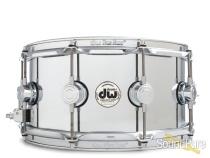 DW 6.5x14 Collectors Solid Steel Metal Snare Drum