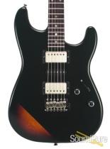 Tuttle Custom Classic S Satin Black Over 3-Tone Burst #430