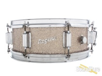 Rogers 5x14 Powertone Snare Drum Silver Sparkle Glass