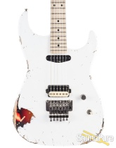 Luxxtone El Machete White Over Sunburst HS Electric #0220