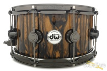 DW 6.5x14 Collectors Exotic Maple Snare Drum-Royal Ebony