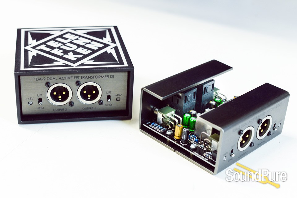 Telefunken TDA-2 Dual Channel Active Direct Box | Soundpure com