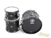 Yamaha 3pc Live Custom Oak Bop Drum Set Black Wood Used