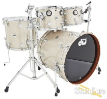 DW 4pc Collectors Series Mahogany Drum Set-Broken Glass