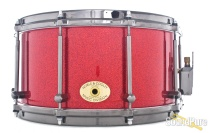 Noble & Cooley 7x14 SS Classic Maple Snare Drum-Red Sparkle