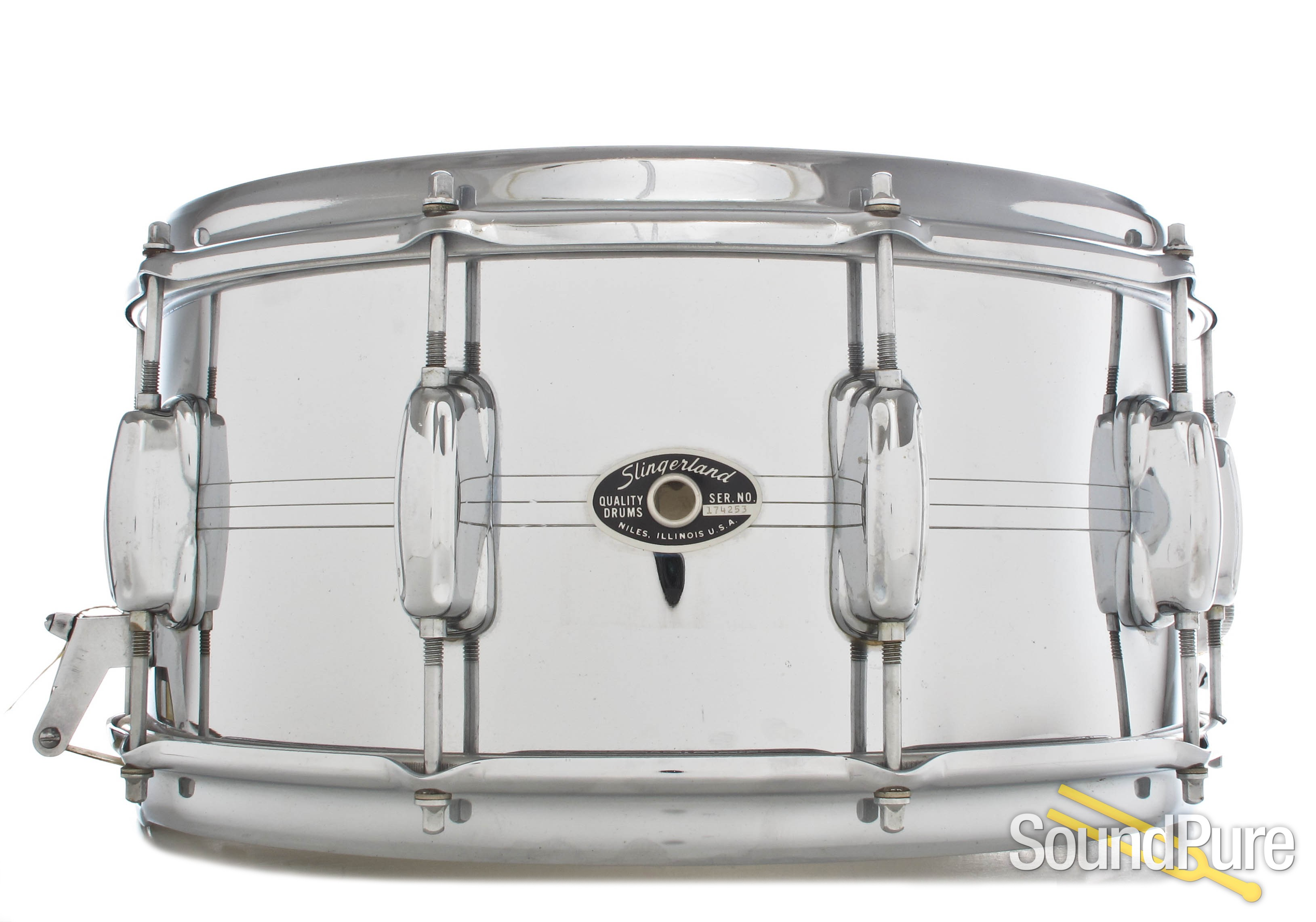 Slingerland 6.5x14 COB Gene Krupa Sound King Snare Drum 70\'s