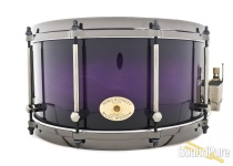 Noble & Cooley 7x14 SS Classic Beech Snare Drum-Black/Purple